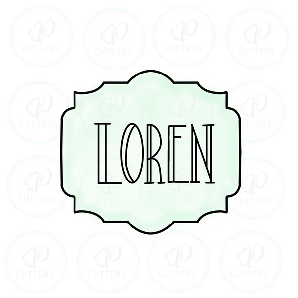 Loren Plaque Cookie Cutter - Periwinkles Cutters LLC