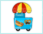 Hot Dog Car Cookie Cutter - Periwinkles Cutters LLC