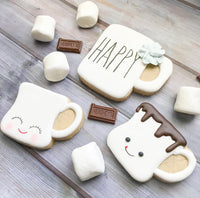 Rae Dunn Inspired Marshmallow Mug Cookie Cutter - Periwinkles Cutters LLC