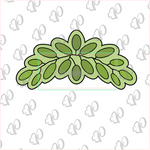 Leaf Crown Cookie Cutter - Greenery Cookie Cutter