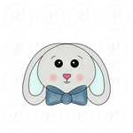 Bunny Face with Bow Tie  Cookie Cutter - Periwinkles Cutters LLC