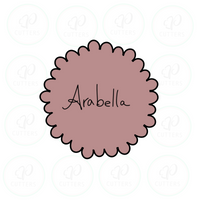 Arabella Scalloped Circle Cookie Cutter - Periwinkles Cutters LLC