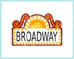 Broadway Sign Plaque Cookie Cutter - Periwinkles Cutters LLC