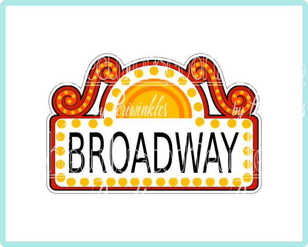 Broadway Sign Plaque Cookie Cutter