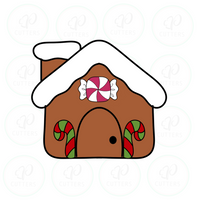 Kawaii Gingerbread House Cookie Cutter - Periwinkles Cutters LLC