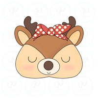 Deer Bandana Cookie Cutter - Periwinkles Cutters LLC