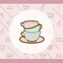 Alice Stack of Teacups Cookie Cutter