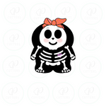 Chubby Girly Skeleton Cookie Cutter