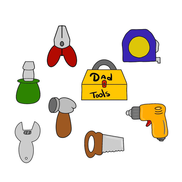 Daddy's Tools Set Cookie Cutter