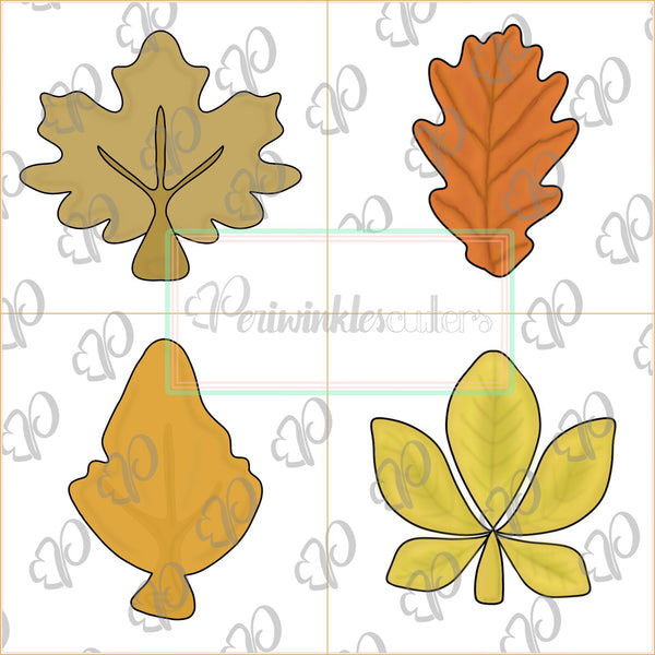 Fall Leaves 2019 Cookie Cutter - Leaf Cookie Cutter