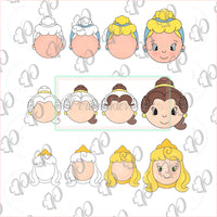 Princesses Inspired Cookie Cutters - Periwinkles Cutters LLC