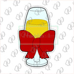 Champagne Glass Cookie Cutter - Periwinkles Cutters LLC