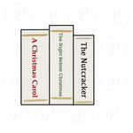 Stack of Books - Periwinkles Cutters LLC