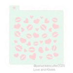 Love and Kisses Stencil - Periwinkles Cutters LLC