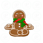 Mimi's Yoga Gingerman - Christmas Cutter - Gingerman - Periwinkles Cutters LLC