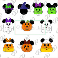 Mickey Mouse Halloween Cookie Cutter - Halloween Cutter - Periwinkles Cutters LLC