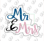 Mr & Mrs Plaque Cookie Cutter - Periwinkles Cutters LLC