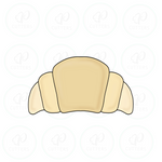 Croissant Cookie Cutter - Periwinkles Cutters LLC
