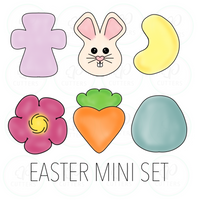 Easter 2020 Mini Set Cookie Cutter - Periwinkles Cutters LLC