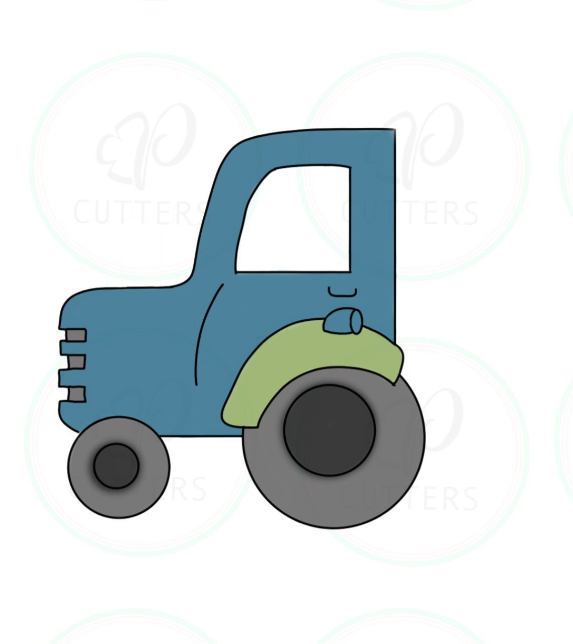 Tractor Cookie Cutter - Periwinkles Cutters LLC