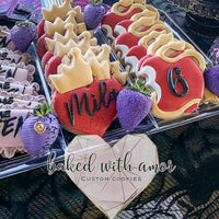 Descendants Apple and Heart Cookie Cutter - Periwinkles Cutters LLC