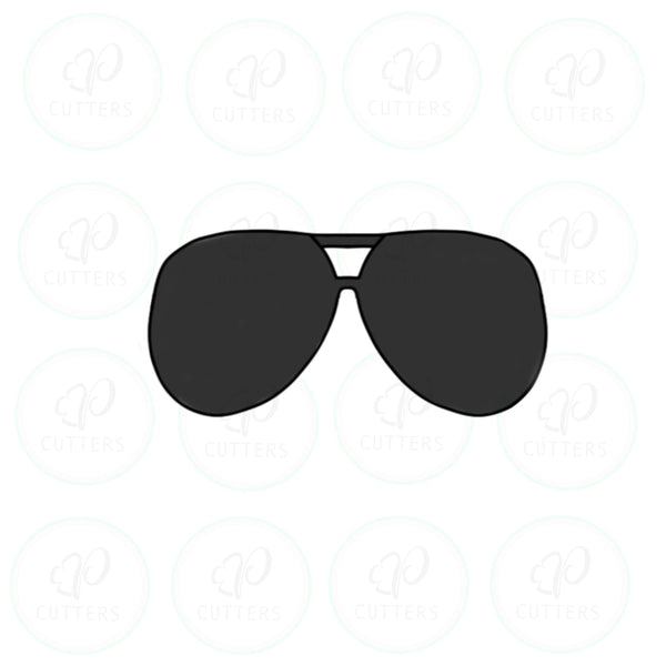 Aviator Sunglasses Cookie Cutter - Periwinkles Cutters LLC