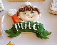 Elf with Banner Cookie Cutter