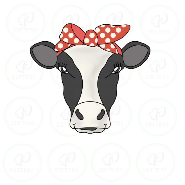 Heifer Cow Bandana Cookie Cutter - Periwinkles Cutters LLC