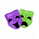 Comedy and Tragedy Mask Cookie Cutter - Periwinkles Cutters LLC