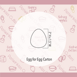 Egg for Eggs Carton Cookie Cutter
