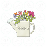 Floral Watering Can Cookie Cutter - Periwinkles Cutters LLC