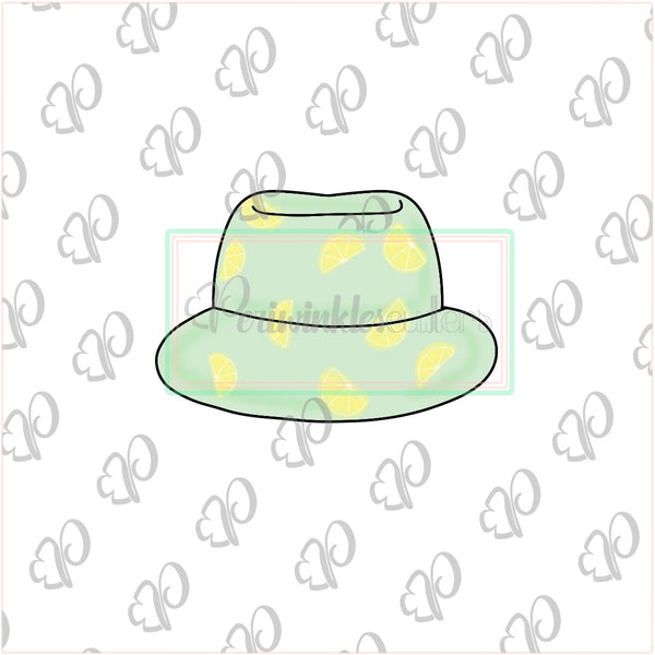 Beach Chubby Hat Cookie Cutter - Periwinkles Cutters LLC