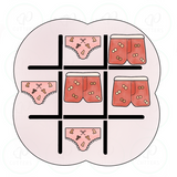 Let's Get Naked Tic Tac Toe Cookie Cutter - ADULT CONTENT - Periwinkles Cutters LLC
