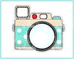 Travel Camera Cookie Cutter - Periwinkles Cutters LLC