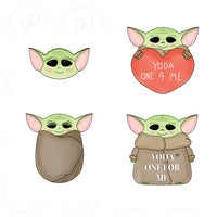 Space Baby YO DA Head Cookie Cutter - Yoda - Periwinkles Cutters LLC
