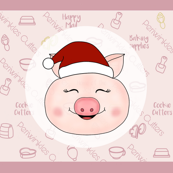 Pig with Santa's Hat