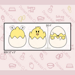 Chick Trio 3 Pieces Set Cookie Cutter