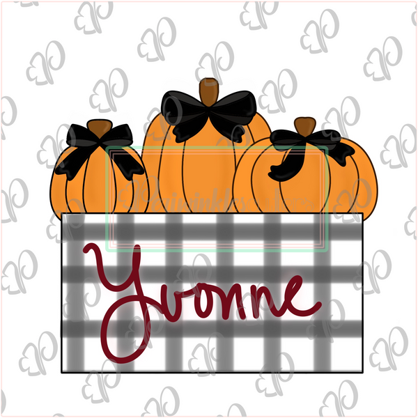 Yvonne's Fall Plaque Cookie Cutter - Periwinkles Cutters LLC