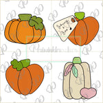 Pumpkins 2019 Cookie Cutter - Pumpkin Cutter - Heart Pumpkin