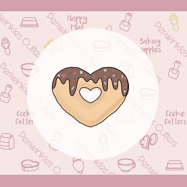 Heart Donut with cutout Cake