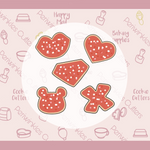 Frosted Valentine Mini Cookie Cutters Set 5 Pieces