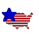 USA Map Star Cookie Cutter - 4th of July Cookie Cutter - America Map - Periwinkles Cutters LLC
