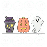Halloween Night Tall 3 Pieces Set Cookie Cutter