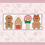 Gingerbread Christmas 4 Pieces Set