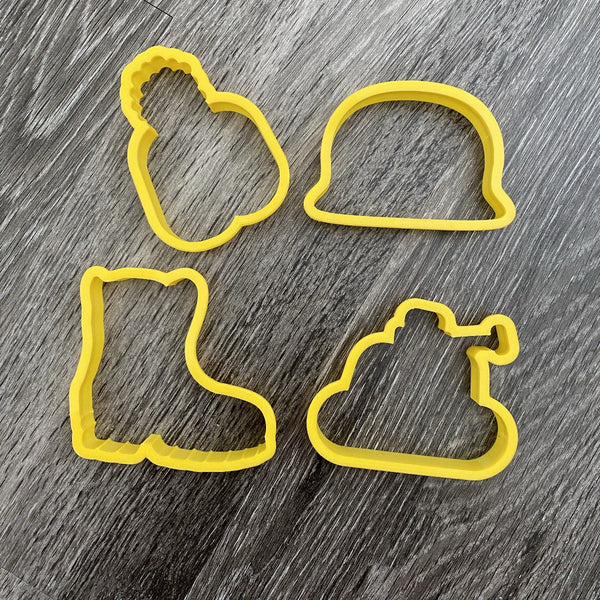 Military Dad Set Cookie Cutter - Periwinkles Cutters LLC