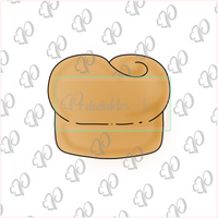 Dinner Roll Cookie Cutter - Periwinkles Cutters LLC