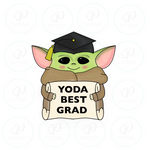 Graduate Yo Da with Diploma Cookie Cutter - Periwinkles Cutters LLC