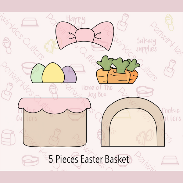 Build an Easter Basket 5 Pieces Set Cookie Cutter