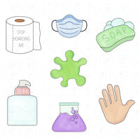 Hand Sanitizer Cookie Cutter - Periwinkles Cutters LLC