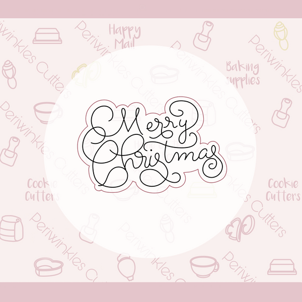 Merry Christmas Lettering Plaque 2020